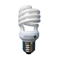 Ampolleta bajo consumo espiral 14W E27 luz cálida 700lm 330° 8000hr Globaltronics